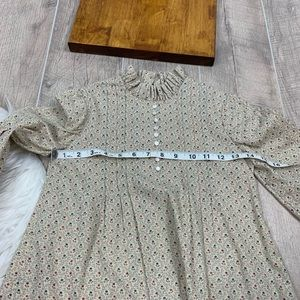 Vintage Dresses - Vintage Long Sleeve Printed Girls Dress 3220
